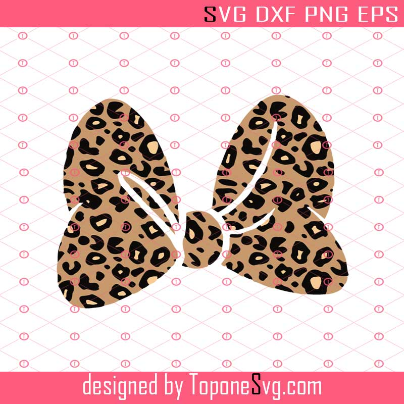 svg png jpg dxf eps Cricut Silhouette Cutting Files Leopard Print SVG Minnie Leopard /& Solid Bow SVG Minnie Mouse SVG
